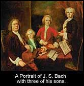 Bach with 3 of his sons